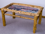 Rustic Table with Woodprint