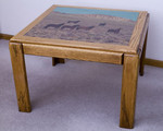 Oak Table with Woodprint