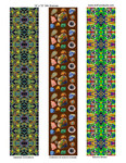 """designs for scarves, 14""""x72""""  # 1-2-3"""