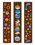 """designs for scarves, 14""""x72""""  # 10-11-12"""