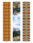 """designs for scarves, 14""""x72""""  # 13-17-24"""