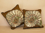 Pillows Fossil Ammonite  sets of two