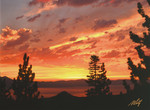 Fiery Lake Tahoe Sunset