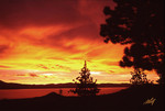 Hot August Sunset at Lake Tahoe