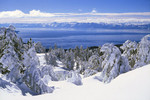 Virgin Snow high above Lake Tahoe