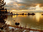Winter Sunset at Sand Harbor