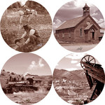 The Old West  sepia